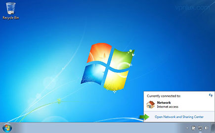 Click on the Network icon in system tray and Open Network and Sharing Center.