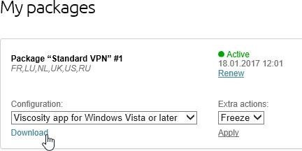 Viscosity on Windows 10 - VPN Instructions - VPNLUX