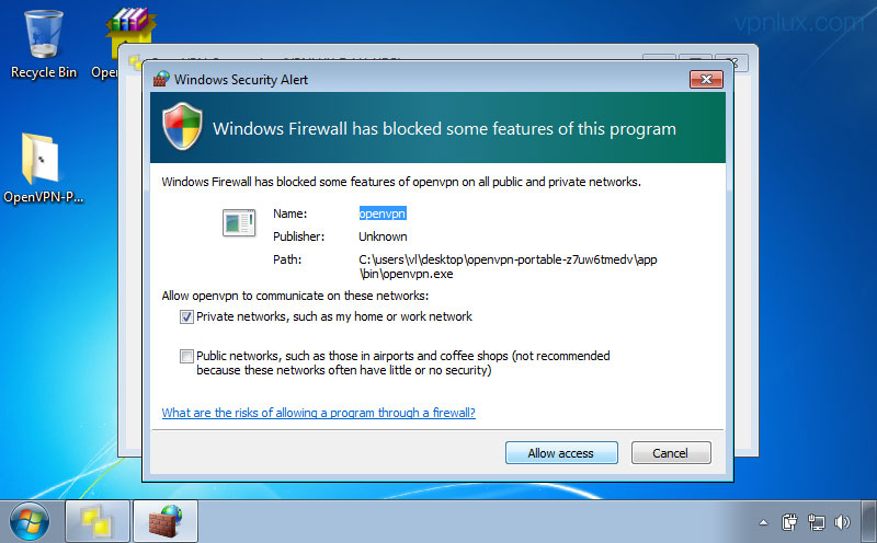 OpenVPN on Windows 7 - VPN Instructions - VPNLUX